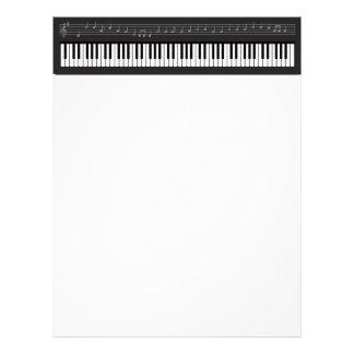 Teclado de piano membretes personalizados