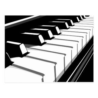 Teclado de piano no2 postal