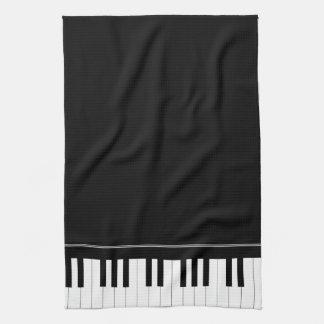 Teclado de piano toalla de cocina