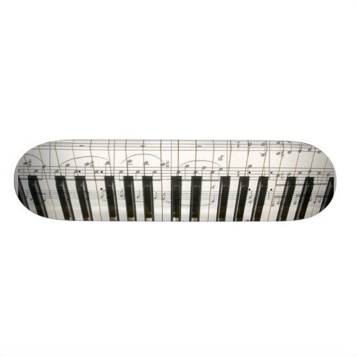 Teclado de piano monopatín personalizado