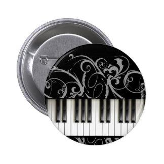 Teclado de piano pin redondo 5 cm