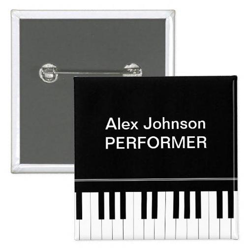 Teclado de piano pin