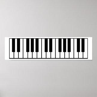 Teclado de piano póster