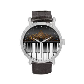 Teclado de piano reloj de mano