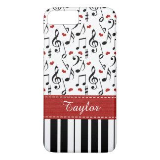 Teclado de piano rojo funda iPhone 7 plus