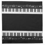 Teclado de piano servilletas