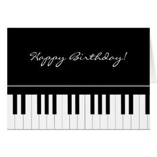 Teclado de piano tarjeta de felicitación