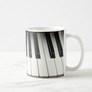 Teclado de piano taza básica blanca