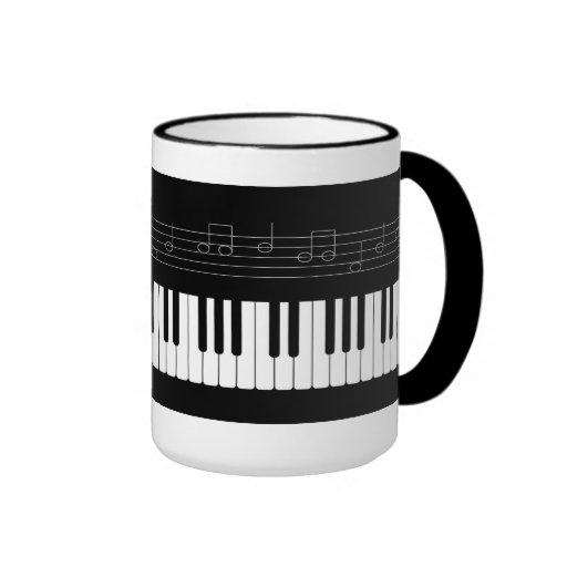 Teclado de piano taza de dos colores