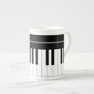 Teclado de piano taza de china