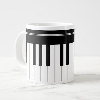 Teclado de piano tazas jumbo