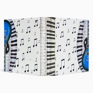 Teclado de piano y guitarra eléctrica azul
