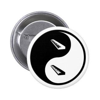 Teclado de Yin Yang Pin Redondo 5 Cm