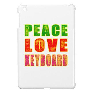 Teclado del amor de la paz iPad mini carcasa