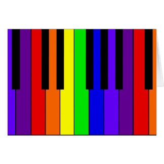 Teclado del arco iris tarjeta de felicitación
