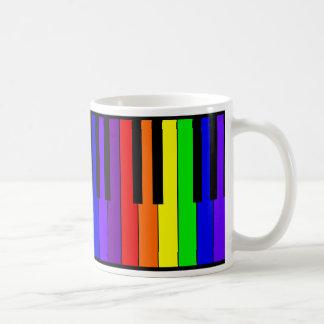 Teclado del arco iris taza