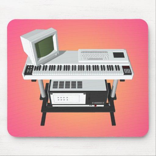 teclado del dechado del estilo de los años 80: mod alfombrillas de raton