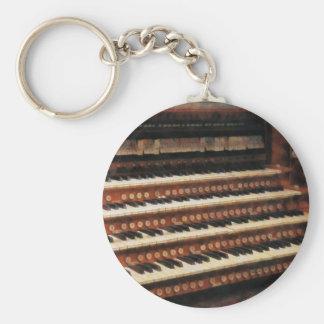 Teclado del órgano llavero redondo tipo pin
