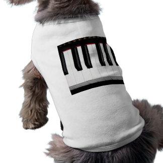 Teclado del órgano playera sin mangas para perro