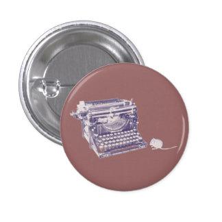 Teclado del vintage y perno del botón de ratón pin redondo de 1 pulgada