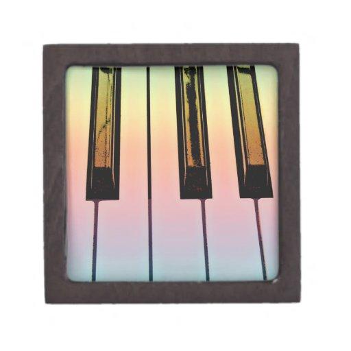 teclado eléctrico con la capa del arco iris cajas de regalo de calidad