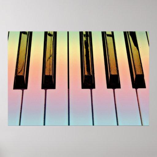 teclado eléctrico con la capa del arco iris impresiones