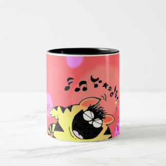 Teclado gordo del juego del gato tazas de café