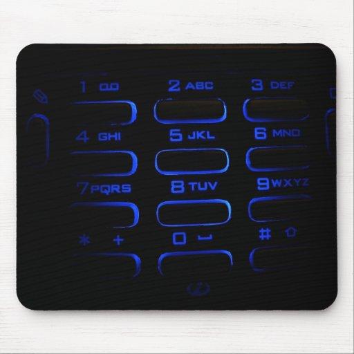 teclado iluminado del teléfono tapete de ratón