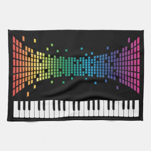 Teclado instrumental del piano de la música multic toallas