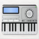 Teclado Mousepad del sintetizador de Digitaces Alfombrilla De Raton