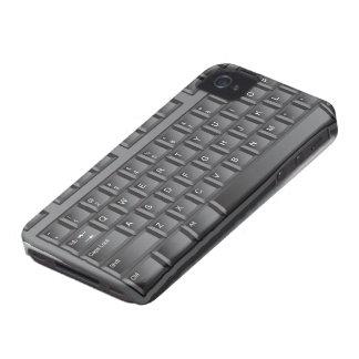 Teclado negro Case-Mate iPhone 4 cárcasas