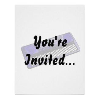 teclado png azul marino electrónico invitaciones personales