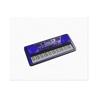 teclado png azul marino electrónico impresiones en lona