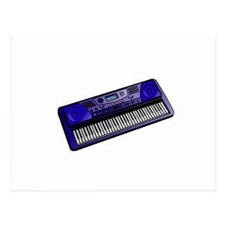 teclado png azul marino electrónico tarjeta postal