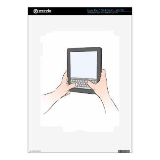 Teclado Texting del dispositivo de la tableta de iPad 3 Skins