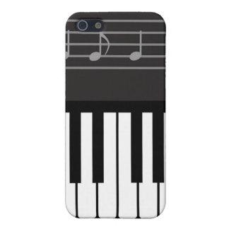 Teclado y caso del iPhone 4 de la escala de la mús iPhone 5 Fundas
