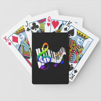 Teclado y Clef agudo Baraja Cartas De Poker