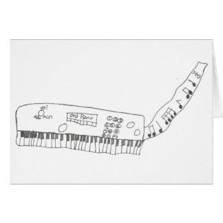teclado y música tarjeta de felicitación