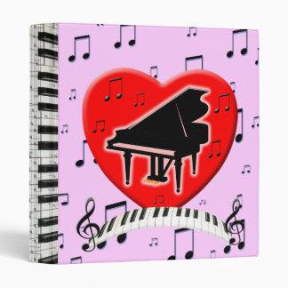 """Teclado y notas de piano de cola carpeta 1"""""""
