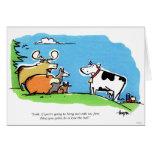 Tecleo animal tarjeta de felicitación
