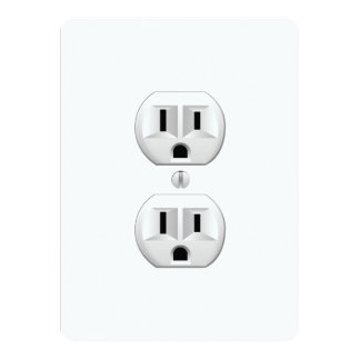"""Tecleo eléctrico del enchufe para modificar la invitación 5.5"""" x 7.5"""""""