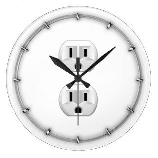 Tecleo eléctrico del enchufe para modificar la reloj redondo grande