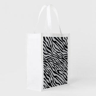 Tecleo mágico de las rayas de la cebra para bolsa para la compra