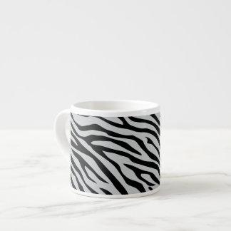 Tecleo mágico de las rayas de la cebra para taza de espresso