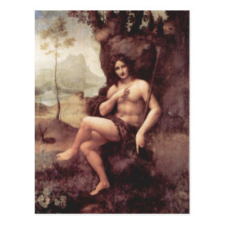 Técnica 1511-1515 de Leonardo da Vinci Bachus Holz Postal