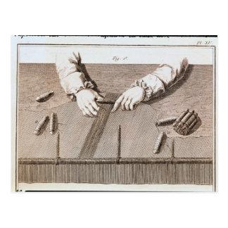 Técnica de Basse-Lisse en la tapicería de los duen Postal