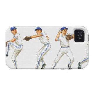 Técnica del cabeceo del béisbol, imagen múltiple vibe iPhone 4 carcasas