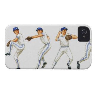 Técnica del cabeceo del béisbol, imagen múltiple iPhone 4 funda