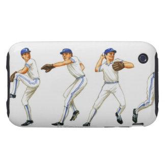 Técnica del cabeceo del béisbol, imagen múltiple iPhone 3 tough coberturas