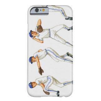 Técnica del cabeceo del béisbol, imagen múltiple funda de iPhone 6 barely there